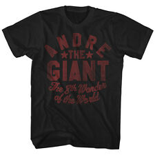 Andre The Giant Mens The 8th Wonder T-Shirt 100% Black Cotton in SM - 2XL