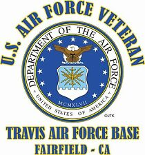 "U.S.AIR FORCE VETERAN* EMBLEM"" NAME DROP US AIR FORCE BASE SHIRT"