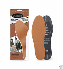 NEW LEATHER INSOLES SHOE INSERTS FOR LADIES AND MEN CUT TO SIZE UK SELLER CHEAP