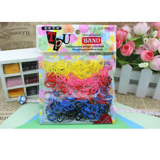 Women Rubber Hairband Rope Hair Band Ties Ponytail Holder Braids Elastic 400pcs
