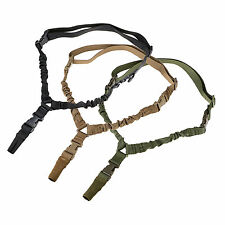Tactical 1 One Single Point Adjustable Bungee Sling Rifle Gun System Strap