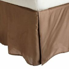 Luxury 100% Wrinkle Free Solid with 2-Line Embroidery Bed Skirt