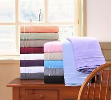 Luxury 100% Wrinkle Resistant 3-Line Embroidery Solid Sheet Set