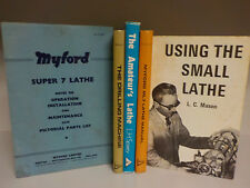 5 Books On Lathe Machining And Drilling - Workshop Manuals - 1970's (ID:649)