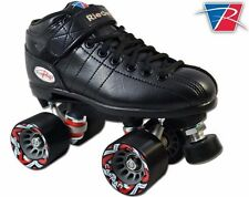 NEW Riedell R3 2015 Black Quad Roller Derby Speed Skates!
