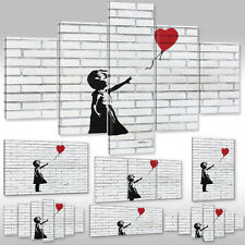 Canvas Picture Canvas Wall Tattoo Art Print Girl with Red Balloon Banksy