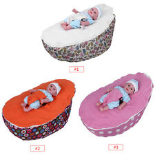 Baby Infant Bean Bag Snuggle Bed Seat Polyester Suede Nappy Change Chair Bouncer