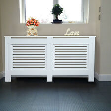 White Painted MDF Radiator Cover Wall Cabinet Home Radiator Cabinet NEW