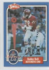 1988 Swell Football Greats Hall of Fame #16 Bobby Bell Kansas City Chiefs Card