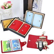 2PC Wallets Holder Key Case Package Key Holder 24 Card PU Leather Credit Card