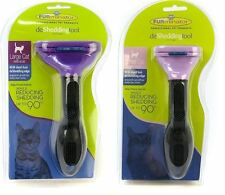 FURminator DeShedding Edge Tool Brush for Cats w Short/Long Hair