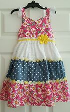 NWT GIRLS NANNETTE FLORAL TIERED BOHO DAISY DRESS $36 SIZES 5,6,6X