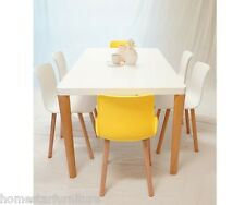 Cosmo Heme 7PC Dining Set Great Value 6 Yellow White or Orange Chair !!!