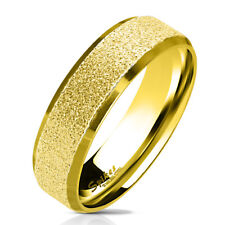 Finger Ring Stainless steel sand-blasted gold Size 5/6/7/8/9/10/11/12/13
