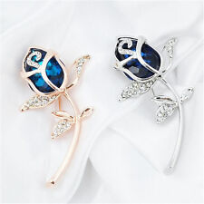Alloy jewelry Rose Flower 1Pcs Crystal Brooch Clothing Rhinestone Brooches Gift