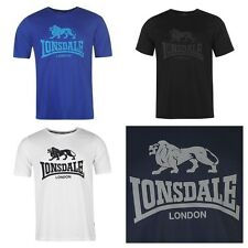 New Mens Branded Lonsdale Casual Crew Neck T Shirt Boxing Top Size S-4XL