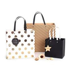 5xDots Stripes Paper Bags Wedding Birthday Festival Gift Favor Bags Boutique Bag