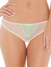BNWT Lepel London Tiff Light Green and Blush Thong - SIZE 10 OR 12