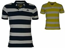 Aeropostale Men's Short Sleeve Striped Blue or Yellow A87 Polo Shirt New w/ tags