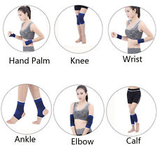 2X Elastic Breathable Knee Palm Wrist Calf Ankle Elbow Braces Support Gym Sports