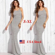 Summer Beach Dress Casual Evening Party Cocktail Long Maxi Sundress Boho Women