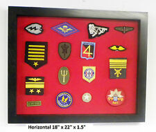 Patches Cabinet Display Case XS Military / Fireman / Police / Boy Scout Patches