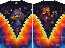 SPACE SHROOMS-Mushrooms 2 SDD TIE DYE T-SHIRT 3X,4X,5X,6X GRATEFUL,PHISH, ALLMAN