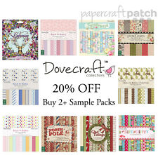 "Dovecraft 8""x8"" Papers - 12 Sheet Sample Packs - Your Choice scrapbook papers"