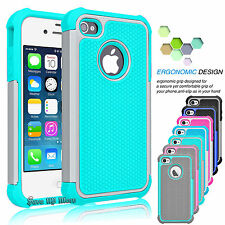 For APPLE IPHONE 5S SE 5 PHONE COVER SHOCKPROOF RUGGED IMPACT RUBBER HARD CASE