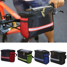 Riding Bike Bicycle Pannier Frame Front Basket Handlebar Quick Release Bag ES
