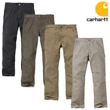 Carhartt Men's Waistband Trousers Washed Twill Dungaree Work Pants Workwear TOP