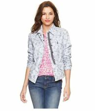 NWT GAP WOMENS XS BLUE FLORAL PRINTED UTILITY JACKET COAT NEW $78 CAMO NEW