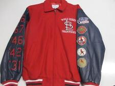 St. Louis Cardinals Mens M L Wool Leather 10 Time World Series Champions SLC 10