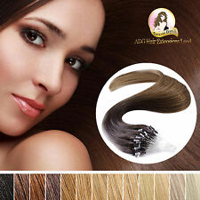100% Real Indian Remy Easy Micro Loop Hair Extensions Double Drawn Black Blonde