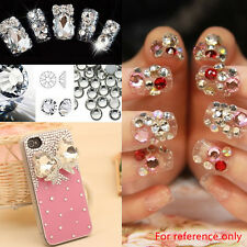 Fashion Shining DIY Nail Art Tips Glitter Crystal Rhinestone Decoration