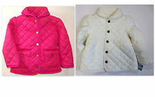 RALPH LAUREN POLO Girls Jacket Size 3 3T Toddler Kids Quilted Barn Coat NEW