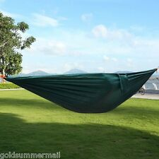 Portable Parachute Nylon Fabric Hammock for Two Person Camping Travel with Rope