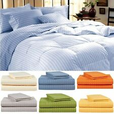 JB Linen 400-TC 1PC Duvet/Quilt Cover Striped Button Closure 100%Egyptian Cotton