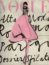 Vintage Vogue Pink Print Poster - Vogue Italia Lady in Pink Italy Print (pint)
