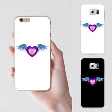 Heart Angel Wing Plastic Phone Case Cover for iPhone 5 Samsung Galaxy S7 Calm