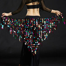 NEW Belly Dance Costumes Hip Scarf Wrap Belt Skirt Sequins triangle Hip skirt
