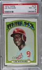 1972 Topps #476 Lee Richard PSA 8 Chicago White Sox RC Rookie Baseball Card
