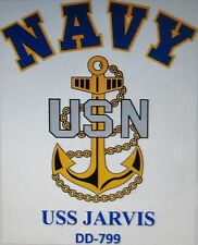 USS JARVIS  DD-799* DESTROYER* U.S NAVY W/ ANCHOR* SHIRT