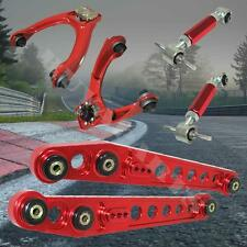 Red Front Upper & Rear Camber Lower Control Arm Suspension Kit Civic 96-00 EK