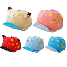 Cute Toddler Infant Boys Baby Girls Hat Peaked Baseball Cap Embroidery Sun Hat
