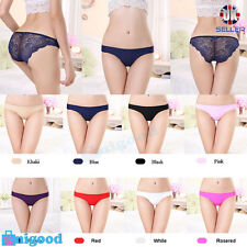 Women Underwear Brief Lace Panties Cotton String  Lingerie Thong Knickers UK