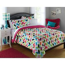Bright Chevron Bed in a Bag Bedding Set Twin Full Queen Size Comforter Sheets