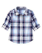 Nwt Gymboree Bike Brigade Plaid Button Up Shirt Size 18-24 Months