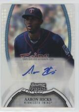 2011 Bowman Sterling #BSP-AH Aaron Hicks Minnesota Twins Auto Baseball Card