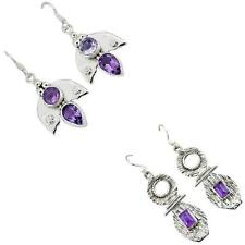 Jewelexi amethyst 925 sterling silver earrings handmade jewelry 5267A